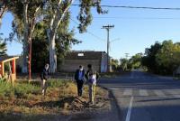 Angaco: avanzan las obras de iluminación en calle Aguilera y Ontiveros