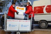 Llegaron a San Juan 25.200 dosis de las vacunas AstraZeneca y Sputnik V