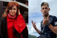 """El cantante L-Gante desmintió a Cristina Kirchner: """"La compu no me la dio el Gobierno, la cambié por mi celular"""""""