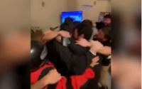 Festejo viral: un repartidor celebró el título de la Selección en la casa de un cliente