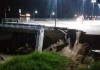 Se derrumbó un muelle en Rosario por la bajante del Río Paraná