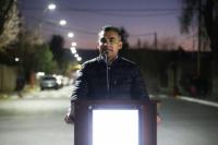 Chimbas inauguró iluminación led en calle Porres