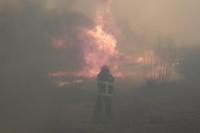 Albardón: Una mujer de 85 años perdió todo por un incendio de pastizales