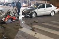 Un bebé y dos mujeres heridas, tras chocar en su moto contra un auto