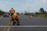 Atención: Vialidad trabaja en una deformación de calzada en la Ruta 20