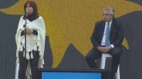 Cristina Kirchner cierra la campaña nacional del Frente de Todos