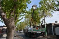 Iluminación led para el barrio CGT Rivadavia