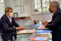 En medio de la crisis, Alberto Fernández se reunió con Sergio Uñac en Olivos