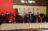 Angaco: el Intendente Carlos Maza recibió a los Artesanos