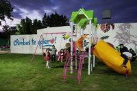 Chimbas: el barrio Resero estrenó su plaza y la iluminación LED