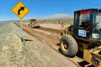 Vialidad comenzó la obra de reparación entre Talacasto y San Roque