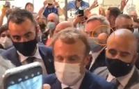 Macron recibió un huevazo durante una visita a Lyon