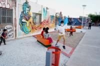 En Chimbas, inauguraron un paseo con pinturas de historia y cultura